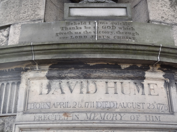 David Hume monument inscriptions