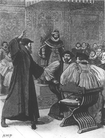 Andrew_Melville_upbraids_a_bishop_at_the_court_of_James_VI, public domain, wiki