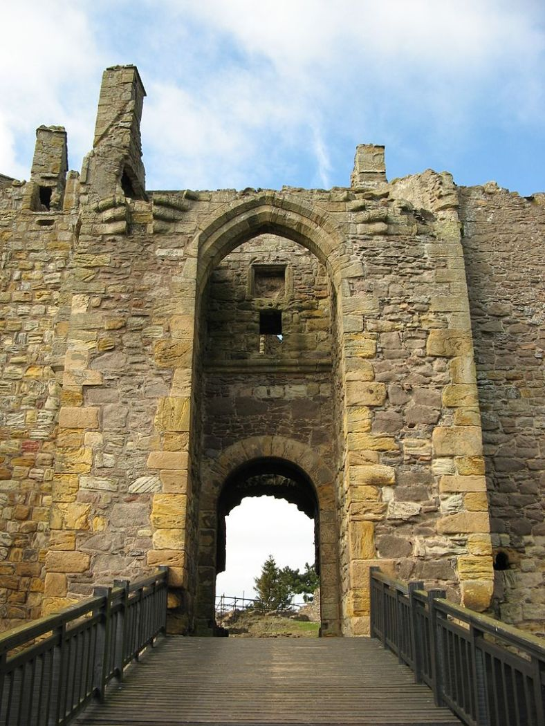 Dirleton Castle gate, built by the Halyburtons, photo, Jonathan Oldenbuck