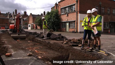 excavation, Leicester