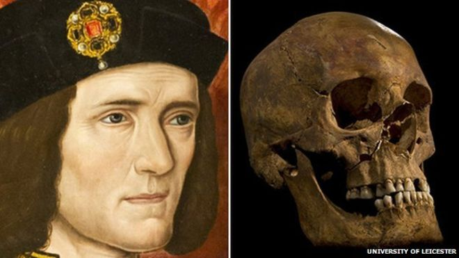 Richard III portrait and skeleton