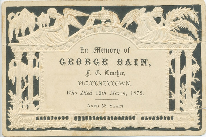 13 George Bain death announcement