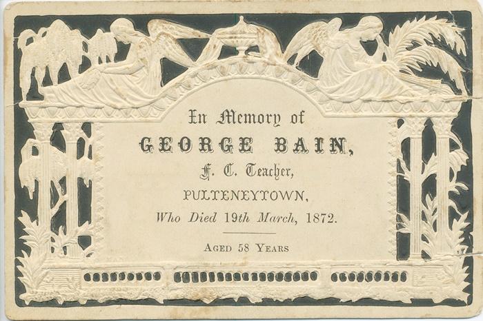 13 George Bain death announcement
