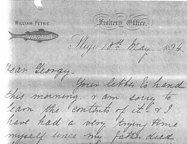 4 Wm Petrie letter to Georgy, top portion