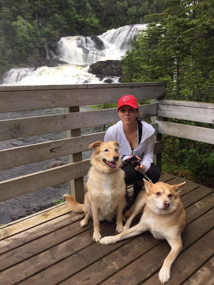 21 Victoria with Belle and Bruno, Gros Morne National Park June 26 2016