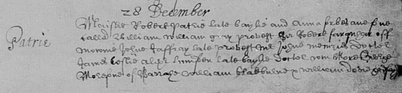 12 William son of Robert and Anna, birth registry