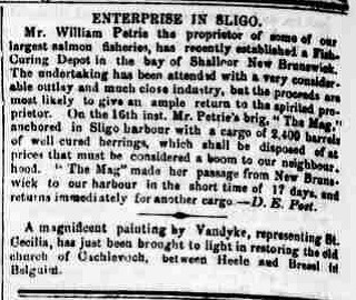 2.5 Bay of Shalloor article, Sligo Champion, Aug 1867