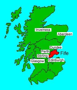 22.9 Map of Scotland showing Fife