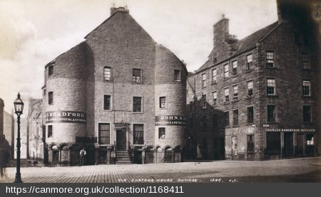 24.5 Old Custom House, near Crichton St. in Dundee, 1876