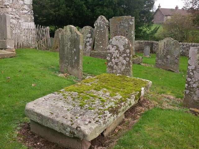 31 Creich churchyard tombstones