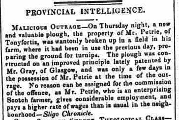 4.83 The Connaught Watchman, June 28 1854, Malicious Outrage