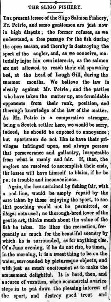 4.84 part one of poison pen article, The Sligo Champion, July 1, 1854