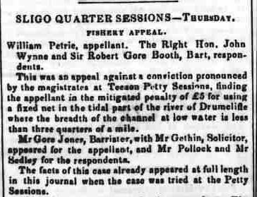 4.91 The Connaught Watchman, Oct 24, 1855 fishery appeal