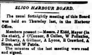 4.985 Nov 26 1870, The Sligo Champion mtg of the Harbour Board frugal